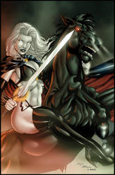 LADY DEATH by Bernard and Mayer colored by Dany-Morales