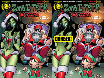 Zombie tramp Saves XXX-mas elf special covers by Dany-Morales