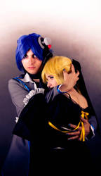 Kaito and Len ver Imiation Black by Szakal63