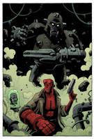 Hellboy vs Kriegaffe by mscorley