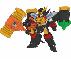The King of Braves GaoGaiGar SD Goldymarg Free R by PaperCraftSquare