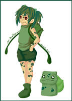 Gotta catch em all 001 Bulbasaur - Gijinka by Silver-Lunne