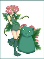 Gotta catch em all Venusaur - Gijinka by Silver-Lunne