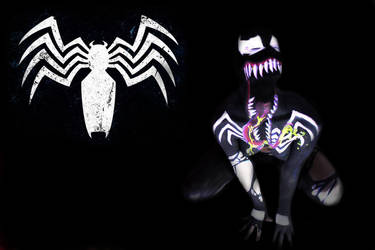 Venom body paint by Silver-Lunne