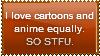 I Love Cartoonime Stamp by nurmuzdalifah