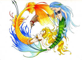 The Mermaid Yin-Yang Pup by Emirichan317
