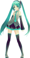 Miku Hatsune Appearance by HelioSWillers