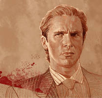 Daily Sketch 17: American Psycho by artandwine365