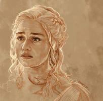Daily Sketch 25: Daenerys Targaryen by artandwine365