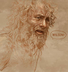 Daily Sketch 29: Tom Hanks in Cast Away by artandwine365
