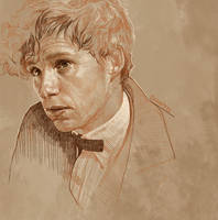 Daily Sketch 32: Eddie Redmayne as Scamander by artandwine365