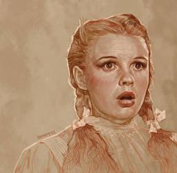 Daily Sketch 33: Judy Garland in Wizard of Oz by artandwine365
