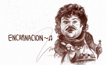Jack Black in Nacho Libre by artandwine365