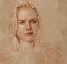 Daily Sketch 36: Renee Zellweger in Jerry Maguire by artandwine365