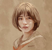 Daily Sketch 37: Hirose Suzu in Our Little Sister by artandwine365