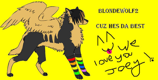 To Blondewolf2-We love ya Joey by xxWolfofDarknessxx