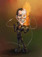 Nicolas Cage Caricature by Vsilva