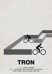 Tron pictogram movie poster by viktorhertz