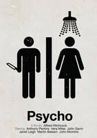 Psycho pictogram movie poster by viktorhertz