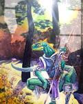Lizardman Ranger painting by DiMaio