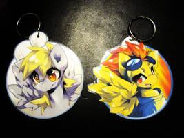 Derpy and Spitfire keychains by Jeniak