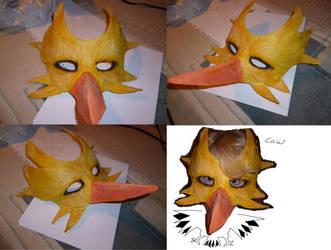 Zapdos mask by mechanicalmasochist