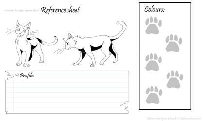 cat reference sheet lineart by mechanicalmasochist
