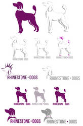 rhinestone dogs by mechanicalmasochist