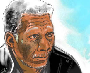 Morgan Freeman by ChopSui