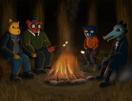 All around the campfire! by Nekot-The-Brave