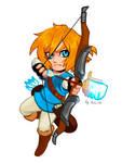 Chibi Link BotW by AozakiAoko-deska