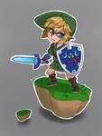 Skyward sword Link by AozakiAoko-deska