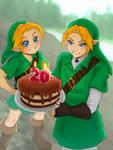 Happy Birthday Ocarina~ by AozakiAoko-deska