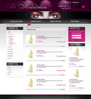 Web for Cosmetics by VictoryDesign