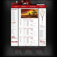 Squash Shop webdesign by VictoryDesign