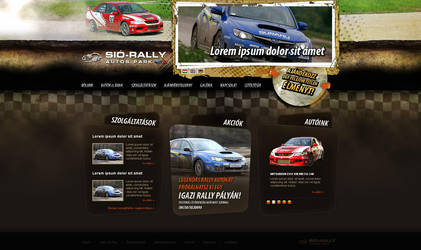 web design: Sio Rally Team by VictoryDesign