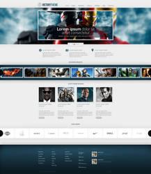 Web Design: WordPress Template by VictoryDesign