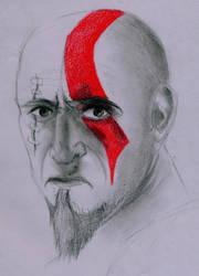 Kratos Portrait by JakeTheFake4