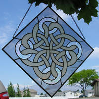 Celtic Knot Stained Glass by CeltCraft