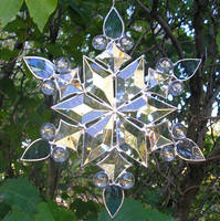 Stained Glass Snowflake 2 by CeltCraft