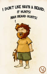 Kid Complains about his beard by Andrew-ak-47