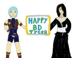 Happy Birthday: Tygerlander. Shiroitora/Katrina by ChikaraRyoku