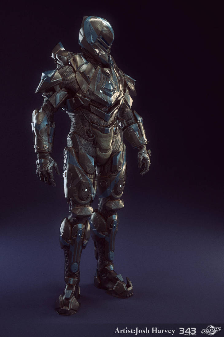 Halo 4 Armor Suit - Venator - Lowpoly Render by JoshEH-Photo