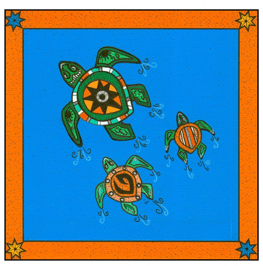 Tribal Series #5_Turtles by pham158