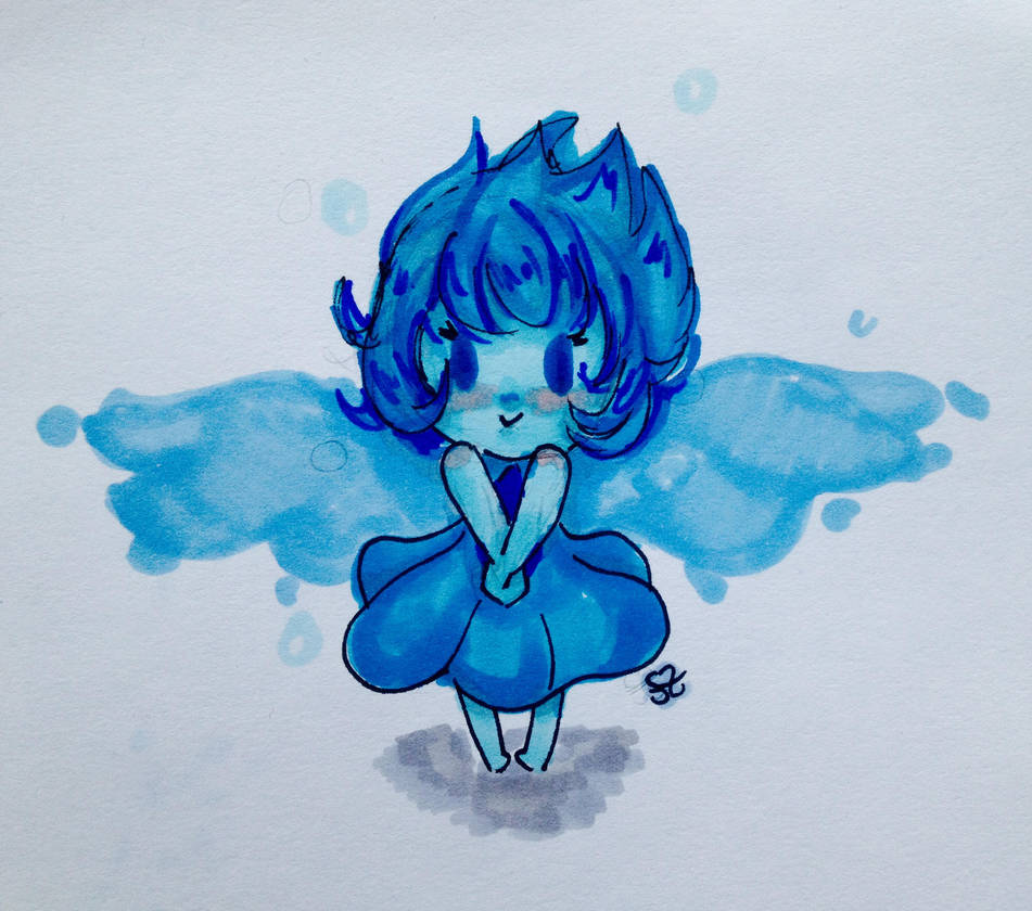 just messing around with my new copics. I have no idea what I am doing  Here is a very quick baby Lapis Lazuli in a style that I have no idea where it came from OTHER STEVEN UNIVERSE FANART: