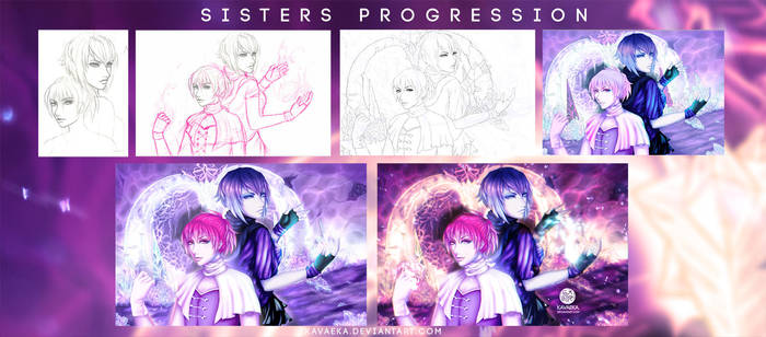 Sisters Progression by Kavaeka