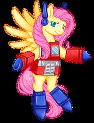 COMMISSION: Optimus Fluttershy by Kavaeka