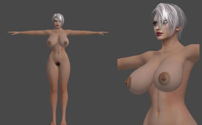 Nude Ivy from SCIV , Milf body test. W.I.P by xradeckx