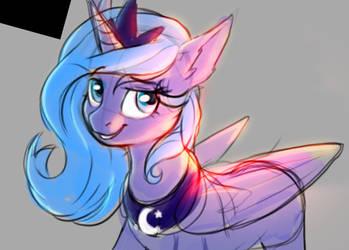 Luna sunshine sketch by RedchetGreen