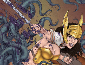 War Goddess 2 Wraparound Cover by MDiPascale